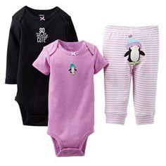 Carter's Penguin Turn Me Around Bodysuit Set - Baby