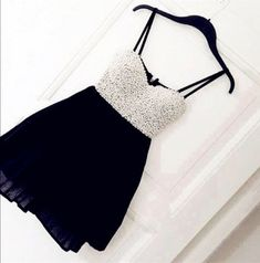 2016 Customized Sweetheart Homecoming Dress,Sexy Black Chiffon Prom Dress,Spaghetti Strap Beading Dress For Party