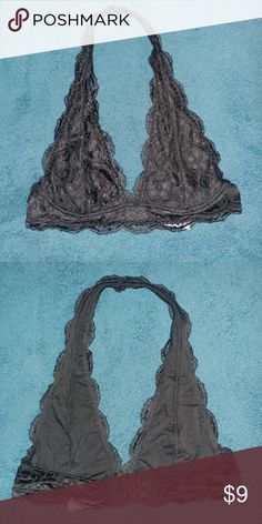 NWOT Halter Bralette Black Lace Halter Bralette. Brand new, without tags. Intimates & Sleepwear