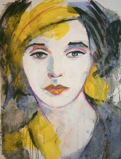 ARTFINDER: Mademoiselle de France # 15 by richard  kuhn - acrylics on paper Größe/ Size: 65 x 50 cm   inch 25,6` x 19,7`