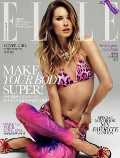 Erin Wasson covers the June 2012 issue of Elle Korea. Shot by Lee Do Gyu.