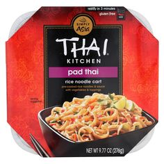 Thai Kitchen Noodle Cart - Pad Thai - Case Of 6 - 9.77 Oz.  #organic #love #inspiredbeacon  #GlutenFree #EthnicFoods #FoodBeverages
