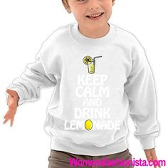 Puppylol Keep Calm and Drink Lemonade Kids Classic Crew-Neck Pullover Hoodie White 5-6 Toddler