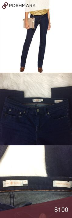 Tory Burch super skinny jeans Tory Burch Super Skinny Jeans. These jeans are awesome! Size 26. I only take offers through the offer feature. Tory Burch Jeans