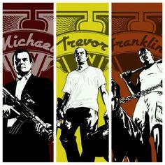 Gta V Michael, Trevor and Franklin
