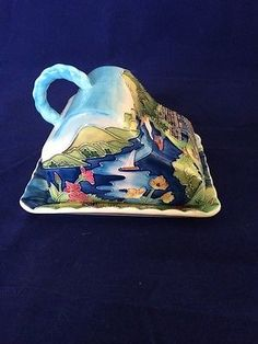 Old-Tupton-Ware-Cheese-Butter-Dish-LAKELAND-Design-New-In-Silk-Lined-Box