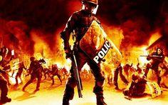 Riot police artwork