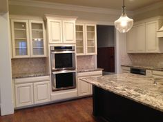 Oven Wall Maple Cabinets Construction Design Glaze Kitchens Kitchen