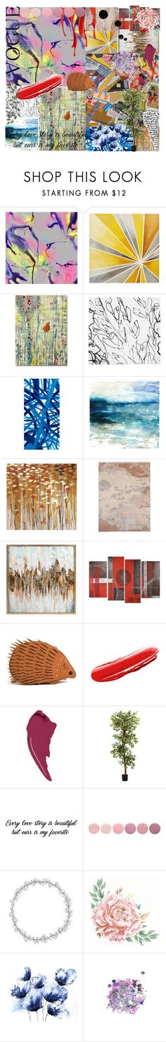"""Abstract Art"" by rsmoore6 ❤ liked on Polyvore featuring WALL, Intelligent Design, Trademark Fine Art, Blume, Barclay Butera, West Elm, Yves Saint Laurent, Givenchy, Nearly Natural and Deborah Lippmann"