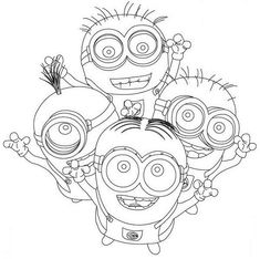 Dibujo para colorear de los Minions (nº 18)