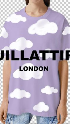 Cloud Drawing, Lilac Sky, Hipster Art, Sky And Clouds, Summer Outfits Women, Celebrity Style, Street Wear, Hand Painted, Street Style