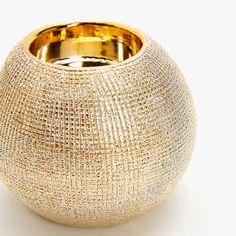 Imagen 5 del producto Portavelas dorado efecto brocha