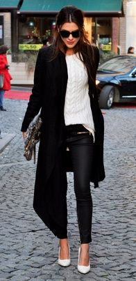 Black and white winter style