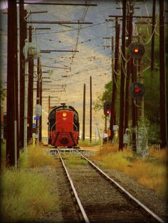 Signals  Vintage Diesel Railroad Locomotive  by ViewObscura