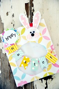 Easter crafts with paper -ideas with fun animal silhouettes