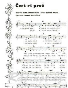 dětské písničky noty - Hledat Googlem Piano, Sheet Music, Notes, Ms, Entertainment, Report Cards, Pianos, Notebook, Music Sheets