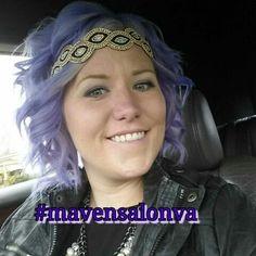 #mavensalonva  lavender hair