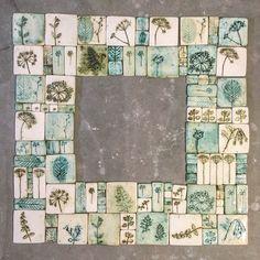 Отпечатки растений • Керамика • Гипс • Cyanotype