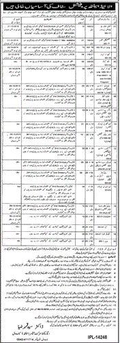 Govt Jobs in Narowal Health Department 2015