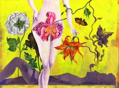 Olaf Hajek is a German-based illustrator, painter, artist, graphic designer and author. Art And Illustration, Character Illustration, Olaf, Flower Landscape, Landscape Art, Art History Major, Sacred Feminine, Divine Feminine, Visionary Art