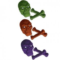 Halloween Party Supplies, Glittery Skull and Bones, Decorations