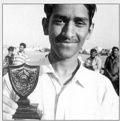 Indian cricket player, Mahendra Singh Dhoni in his early stages