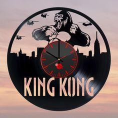 King Kong Handmade Vinyl Record Wall Clock Fan gift - VINYL CLOCKS