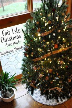 Fair Isle Christmas Tree Skirt