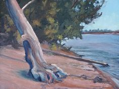 Down By The River by Todd Derr Oil ~ 9 x 12