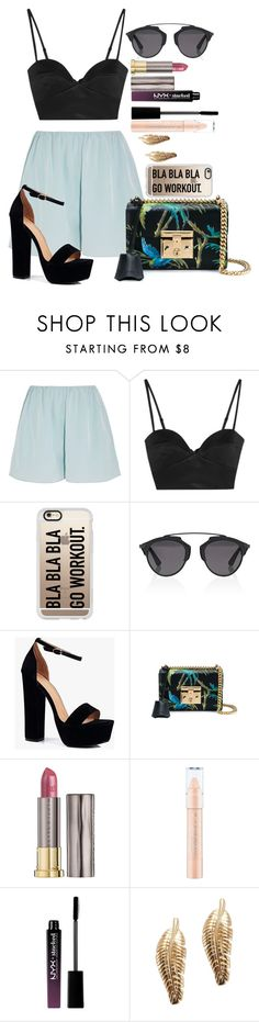 """Untitled #1503"" by fabianarveloc on Polyvore featuring Elizabeth and James, Michael Lo Sordo, Casetify, Christian Dior, Boohoo, Gucci, Urban Decay and NYX"
