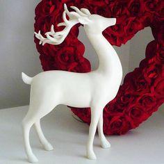 cream stag reindeer by marquis & dawe   notonthehighstreet.com