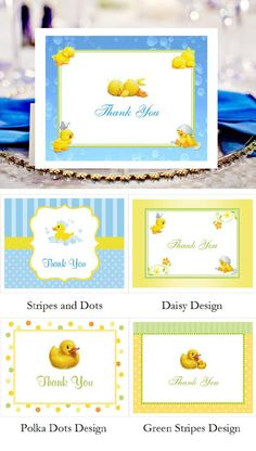 $1.00 Duck Baby Shower Rubber Duck Thank You Cards. Save 15% See How>>http://bit.ly/1OmImBx ‪#‎love‬ ‪#‎cute‬ ‪#‎babyshower‬ ‪#‎rubberduck