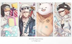 One Piece, Trafalgar Law, Bepo, Shachi, Penguin