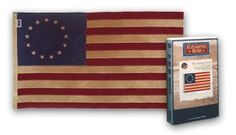 Betsy Ross Flag - Vintage/Tea Dyed Cotton 3 ft. x 5 ft. by Flags Unlimited, Inc.. $49.95. Specially antiqued for a rich, historic look. 100% Cotton Bunting. Canvas Heading & Brass Grommets. Sewn Stripes & Embrodered Stars. Buy authentic Betsy Ross Vintage Flags. Our historical flags are unsurpassed in quality and authenticity.100% Cotton Bunting 13-Star 'Betsy Ross' Flag that has been specially antiqued for a rich, historic look. No two flags are exactly alike, as the results of...