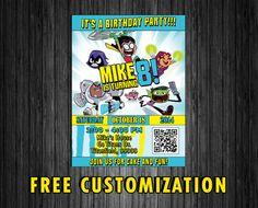 Teen Titans Birthday Invitation Card/Ticket Digital by KirovArts