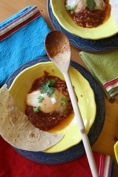 Great vegetarian breakfast idea-- Huevos Ahogados!