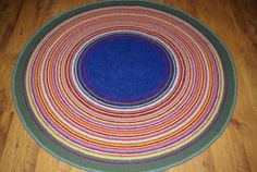 Large crochet round rug MEADOW 60'' 150 cm by AnuszkaDesign, $165.00