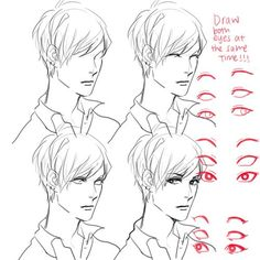 Drawing eyes and their correct position on the face.
