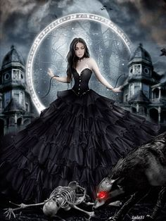 Goth Fairy With Angel Of Death