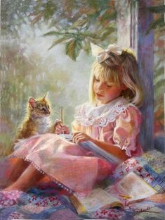 Kathryn Andrews Fincher. She loved to read and her kitties
