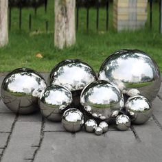 High Gloss Glitter Stainless Steel Ball Sphere Mirror Hollow Ball Home Garden Decoration Supplies Ornament Decorative Stakes & Wind Spinners from Home & Garden on AliExpress Metal Garden Ornaments, Lawn Ornaments, Outdoor Mirrors Garden, Outdoor Art, Outdoor Living, Outdoor Decor, Garden Spheres, Decorative Spheres, Mirror Ball