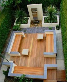 modern garden by mimkuff
