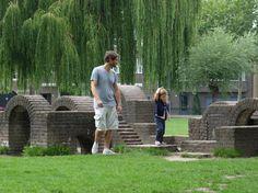 Des anciennes canalisations comme parcours aventure (Amsterdam / Pays-Bas)