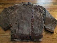 CLIFFORD MICHAEL Brown Suede Motorcycle Jacket, 80's, Steampunk, Retro, Medium #CliffordMichael #Motorcycle