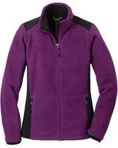 Purple/Grey Full-Zip Polyester Jacket with Custom Embroidery - Eddie Bauer, Coat Sale, Jackets For Women, Clothes For Women, Embroidered Jacket, Purple Grey, Jackets Online, Outerwear Women, Lady