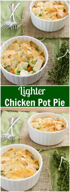 This lighter chicken pot pie is a guilt free way to enjoy classic ...