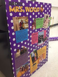 You Can Decorate High School Classrooms Too! When I started teaching, I was surprised at how much teenagers wanted to know about me. This year I went ahead and created an about me board on the side of my desk. High School Classroom, Science Classroom, Future Classroom, Class Decoration, School Decorations, Decoration Pictures, Decor Ideas, Classroom Organization, Classroom Decor