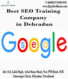Digital Web Brain Offering Advanced SEO Training Module in Dehradun at affordable Price. We are the Best SEO Training Company in Dehradun. We are offering training in live project and Will Coverall activities Onpage and Offpage. How to implement SEO Onpage and Offpage Activity and Get a ranking of the website in Google. http://bit.ly/2yteZwv #BestSEOTrainingCompanyinDehradun #SEOTraininginDehradun #SEOCompanyinDehradun
