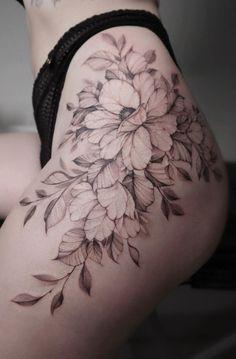 Back Hip Tattoos, Thigh Piece Tattoos, Forarm Tattoos, Hip Tattoos Women, Best Tattoos For Women, Dope Tattoos, Sleeve Tattoos For Women, Leg Tattoos, Body Art Tattoos