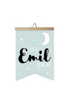 """Bilder - Bild Wimpel """"Emil"""" - blau - ein Designerstück von Louise-Wiese bei…"""